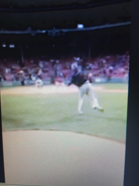 Coach of Howard Johnson Tigers Throws First Pitch at Fenway