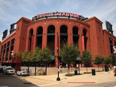 Busch Stadium from the exterior