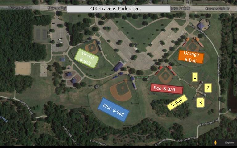 aerial view of Cravens Park