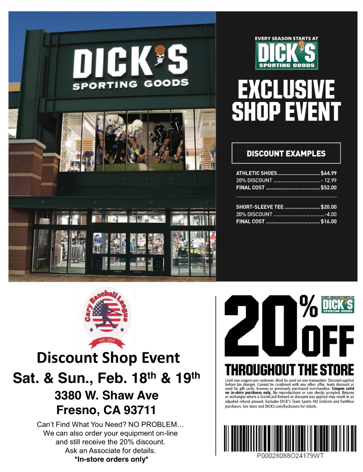 Discount Shopping Event at Dick's Sporting Goods