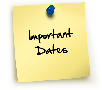 Important Dates and Info