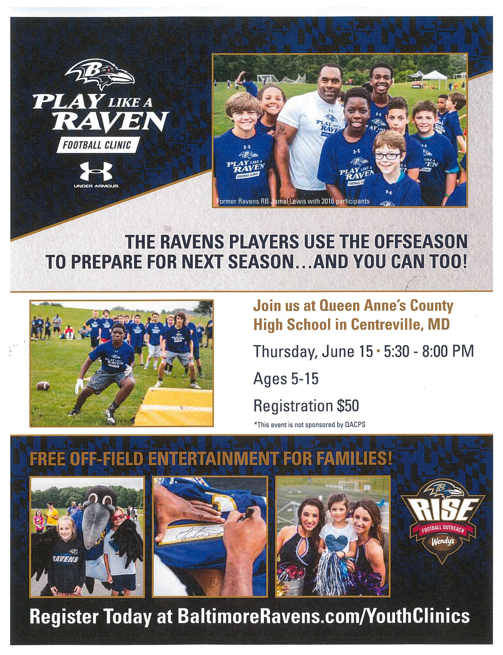 Baltimore Ravens Host Football Camp
