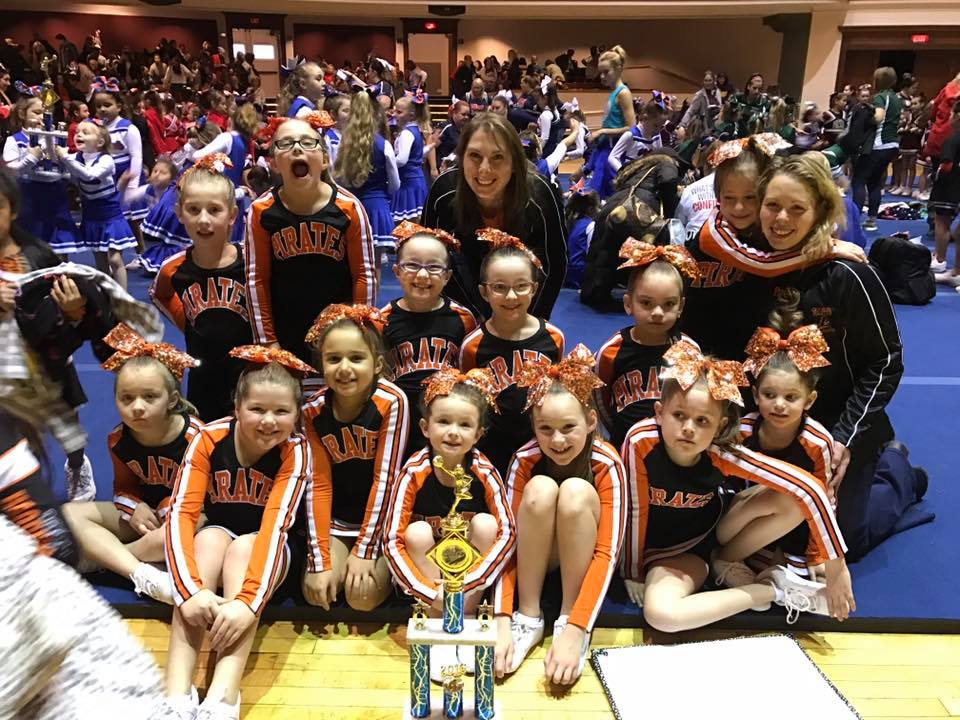 U8 Cheer Team Wins 1st place