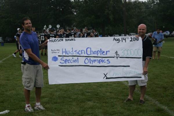 Donation to Hudson Special Olympics
