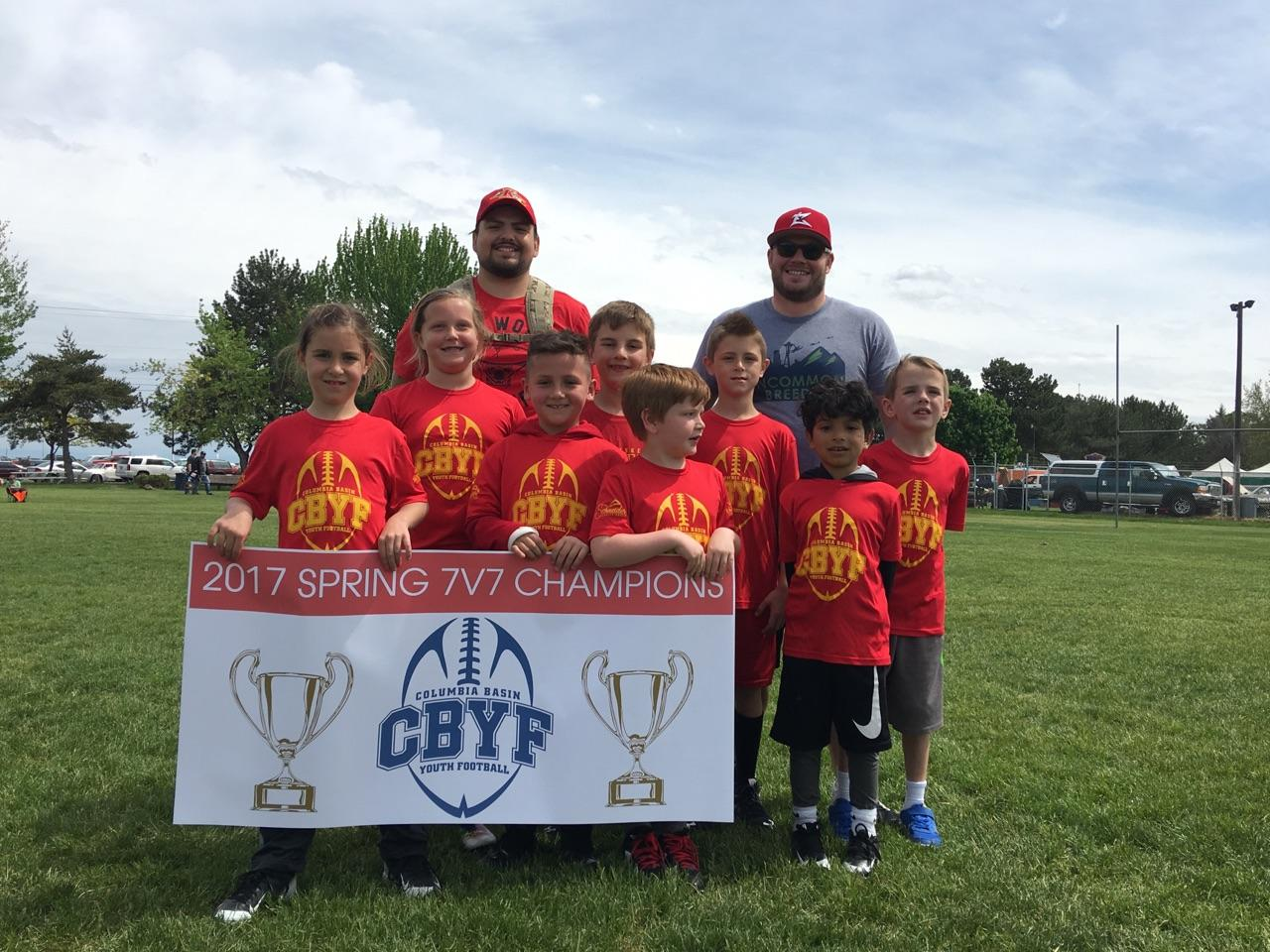 BRAVES RED WIN THE 1ST/2ND GRADE CBYF 7V7 TITLE
