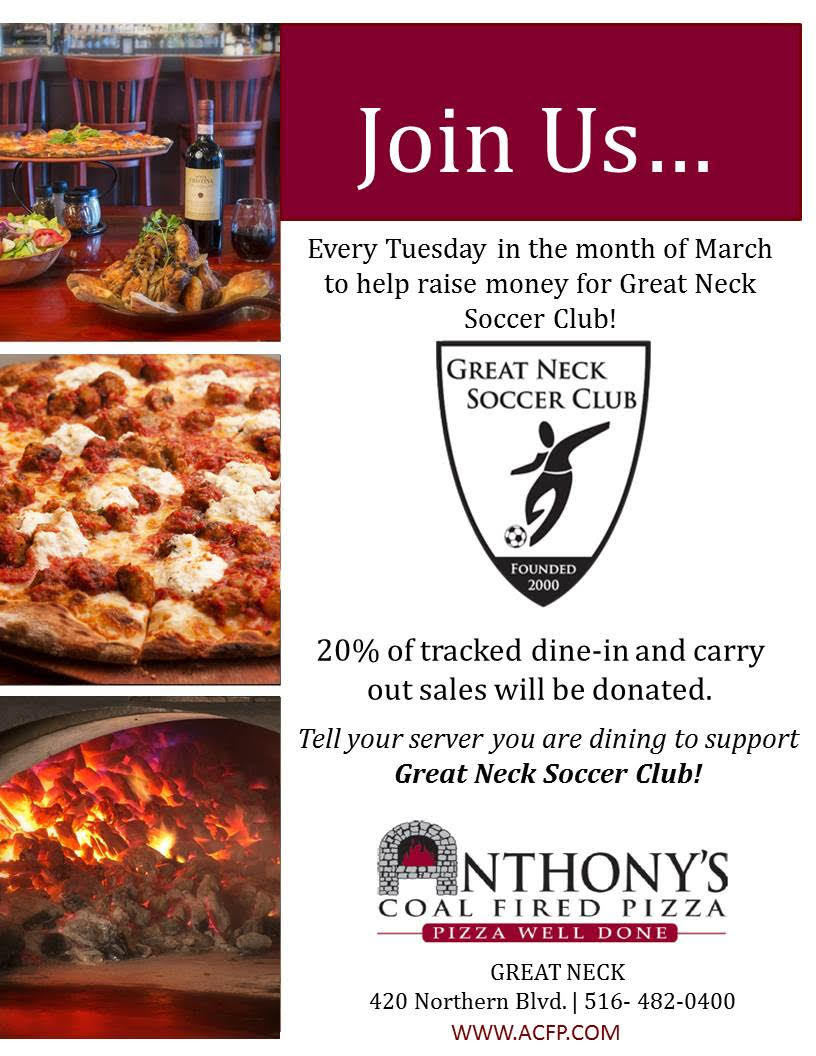 Anthony's Coal Fired Pizza Fundraiser (Every Tuesday in March)