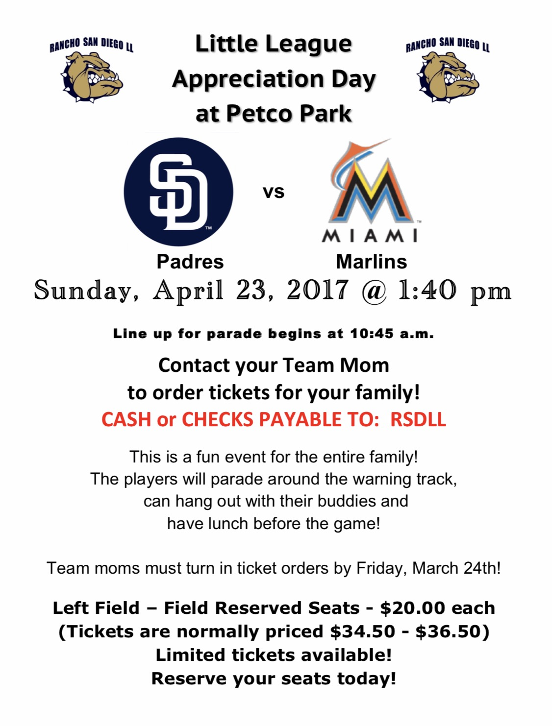 Little League Appreciation Day at Petco!